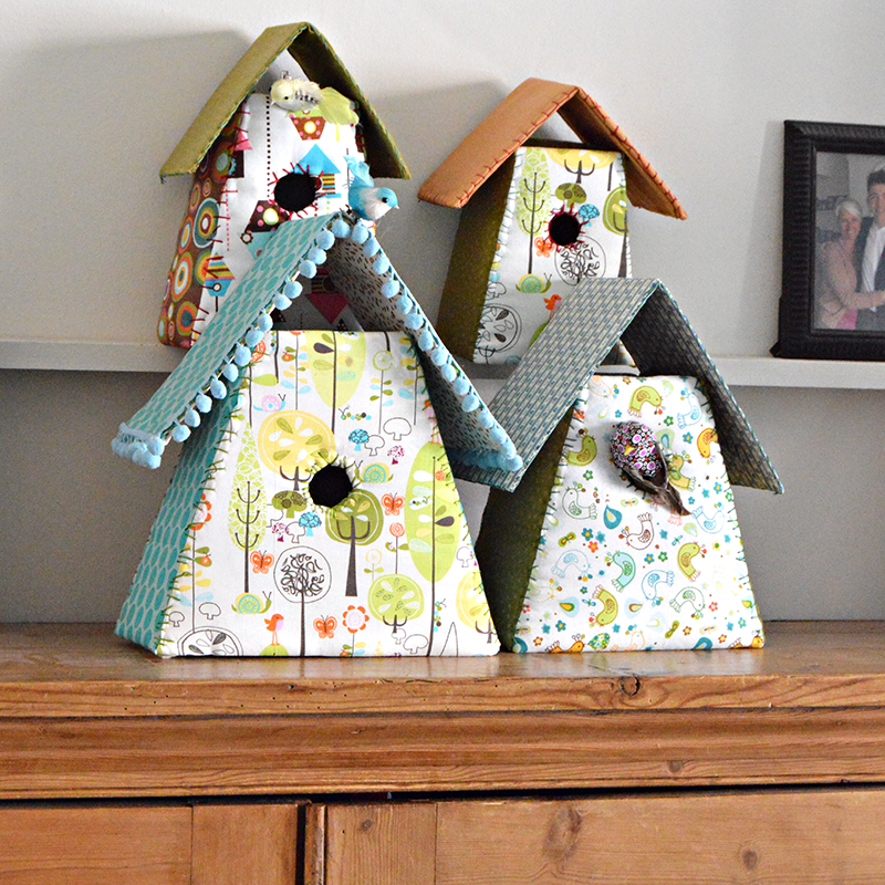Fabric Birdhouses from Pillar Box Blue