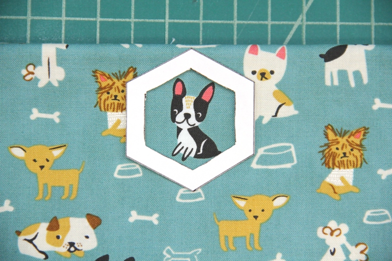 Little dog for fabric hexie earrings