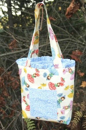 Ruffled Tote Bag - Crafty Staci