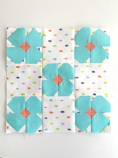 Posy Patch Quilt Block from Schnitzel and Boo