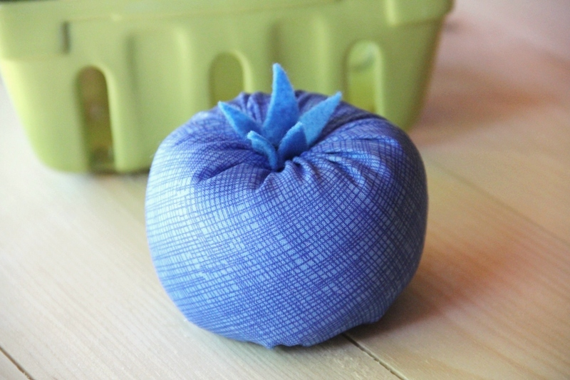 Blueberry Pincushion from CraftyStaci
