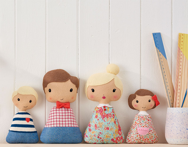 Felt Doll Family from Mollie Makes