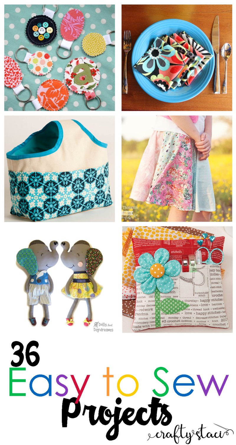 36 Easy to Sew Projects - craftystaci.com #easytosew #quicktosew #sewingforbeginners