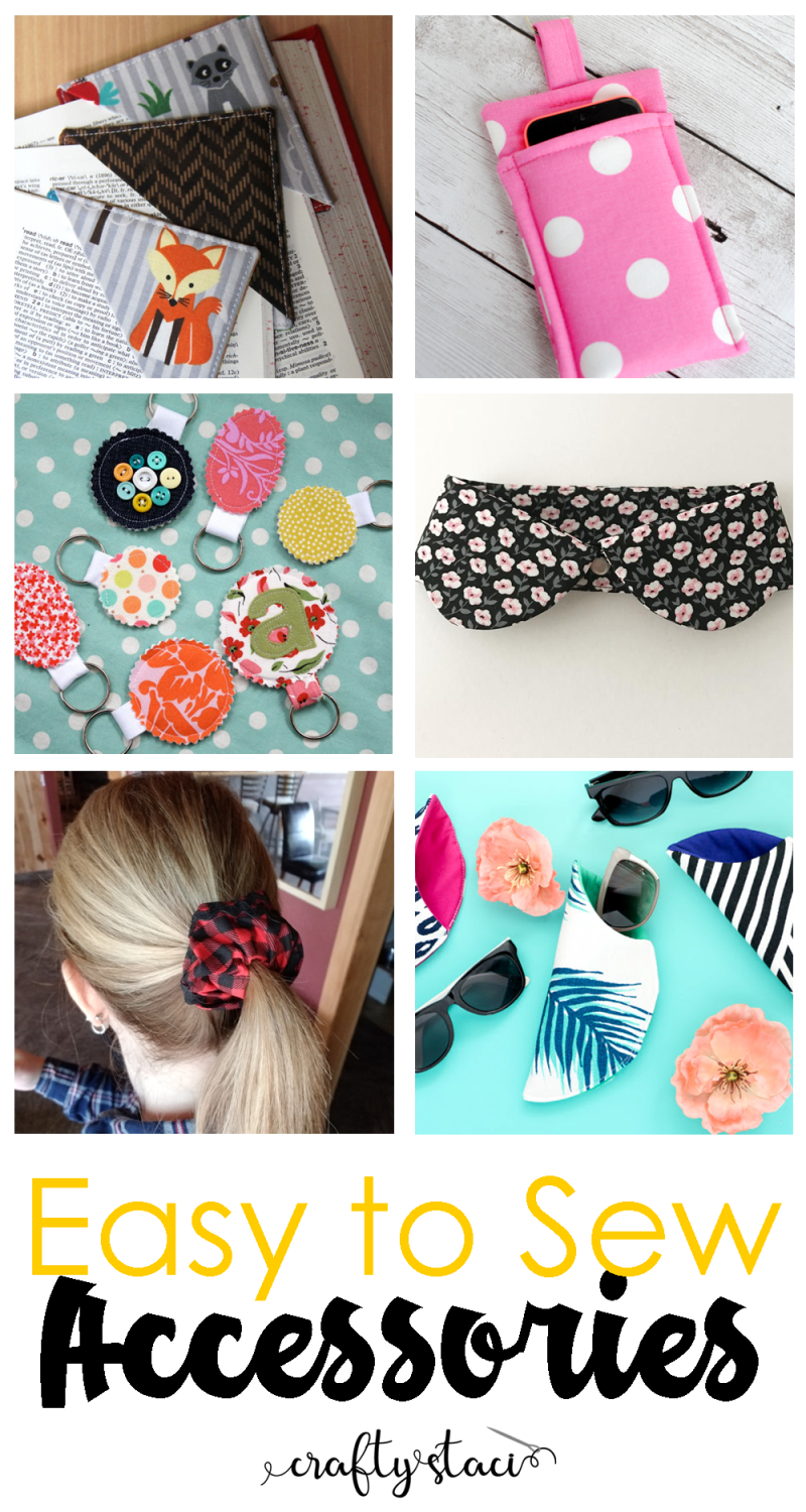 Easy to Sew Accessories - craftystaci.com #easytosew #diyaccessories #quicktosew