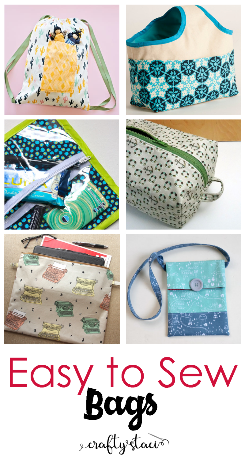 Easy to Sew Bags - craftystaci.com #easytosew #bagstosew #diybags #quicktosew
