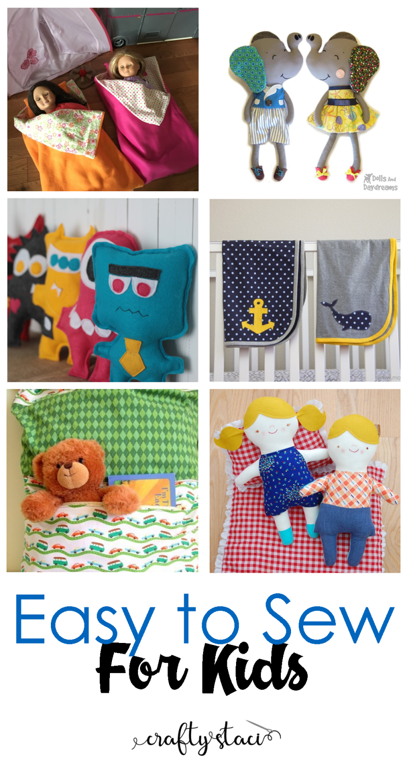 Easy to Sew for Kids - craftystaci.com #easytosew #quicktosew #sewingforkids #toystosew