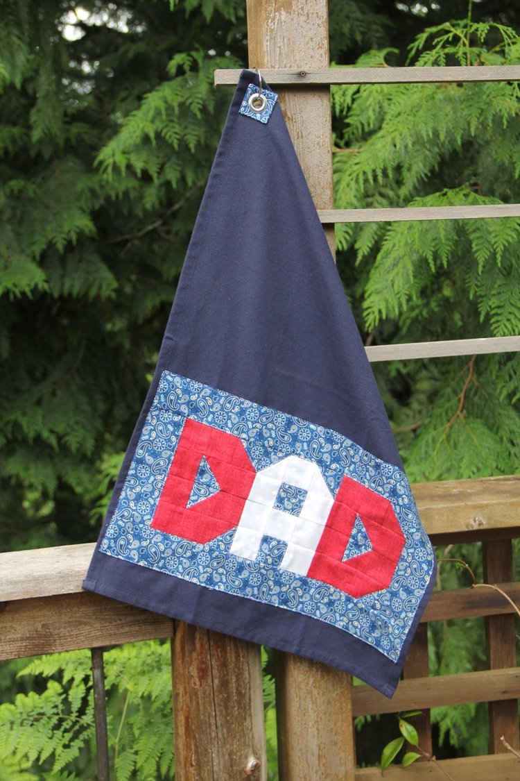 Sewing tutorial: Patchwork BBQ Towel for Father's Day