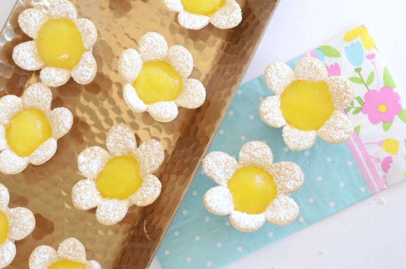 Mini Lemon Flower Tarts from Kid and Kin