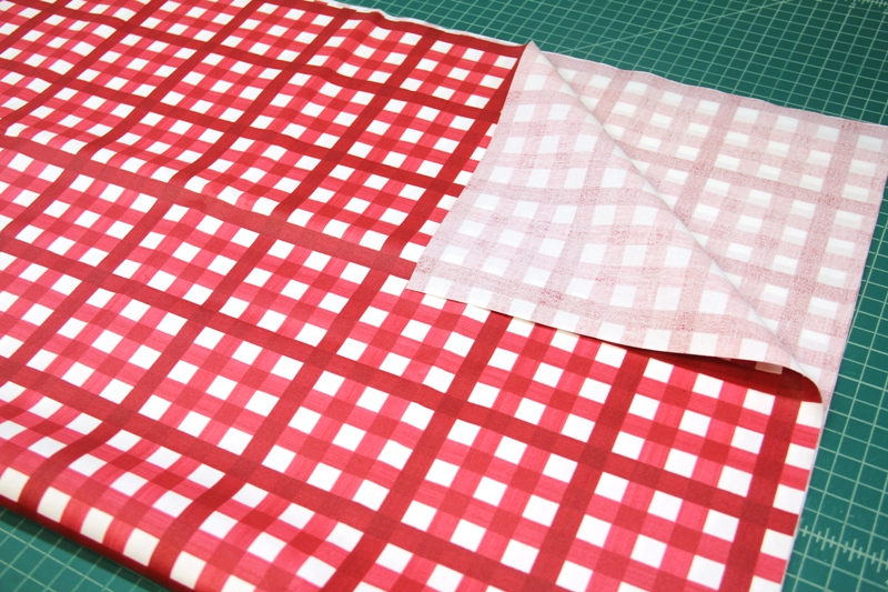 Buffalo Check Red coated fabric on Crafty Staci