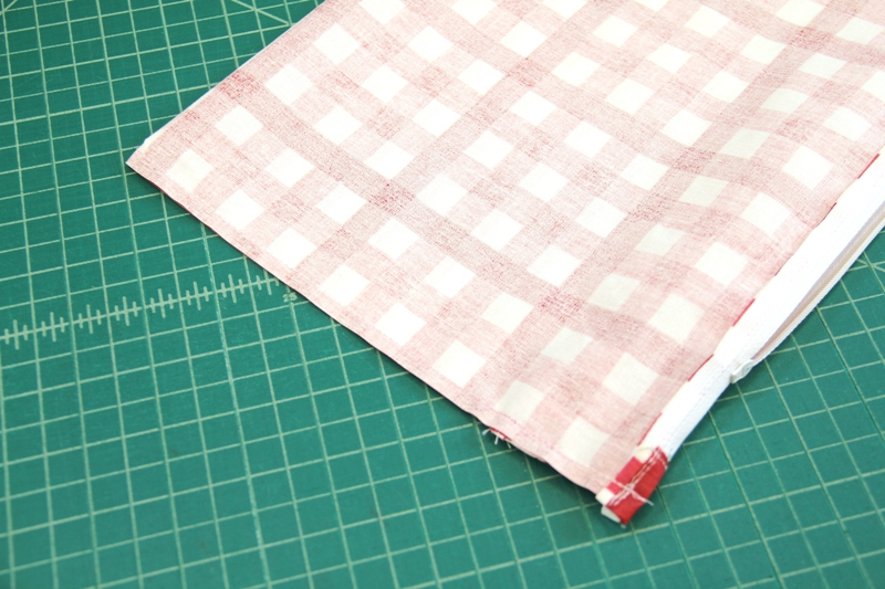 Sides sewn for storage pouch on Crafty Staci