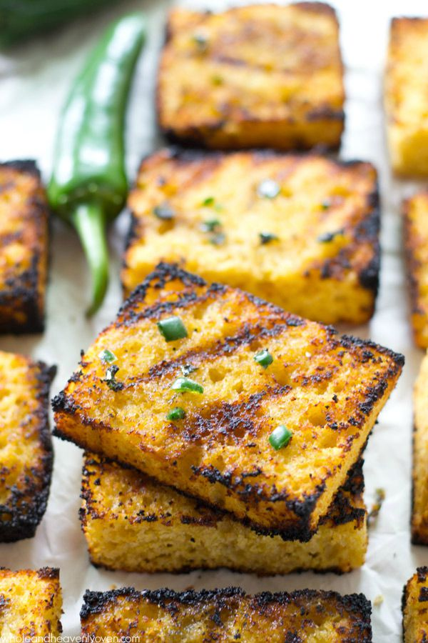 Grilled Cornbread with Jalapeno Honey Butter from Whole and Heavenly Oven