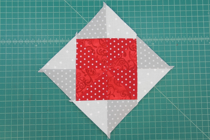Triangle four sewn on