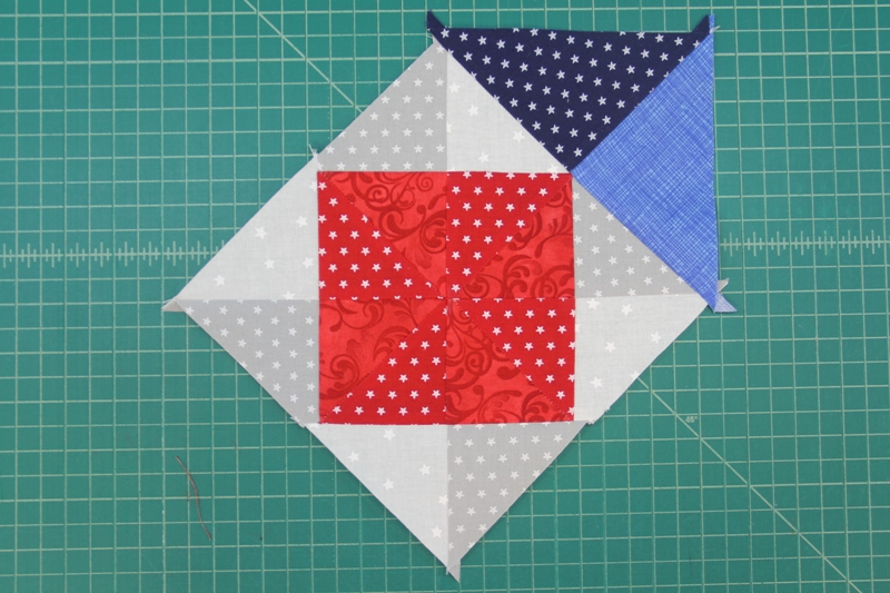 Triangle five sewn on