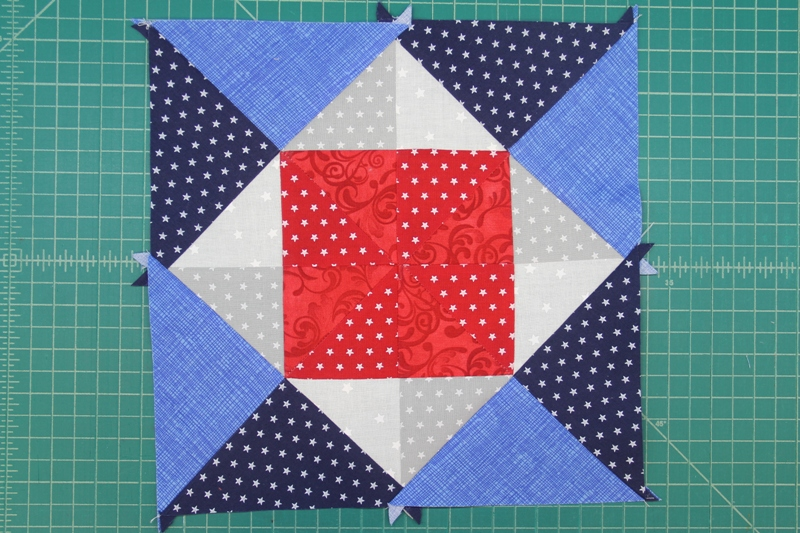 Triangle eight sewn on