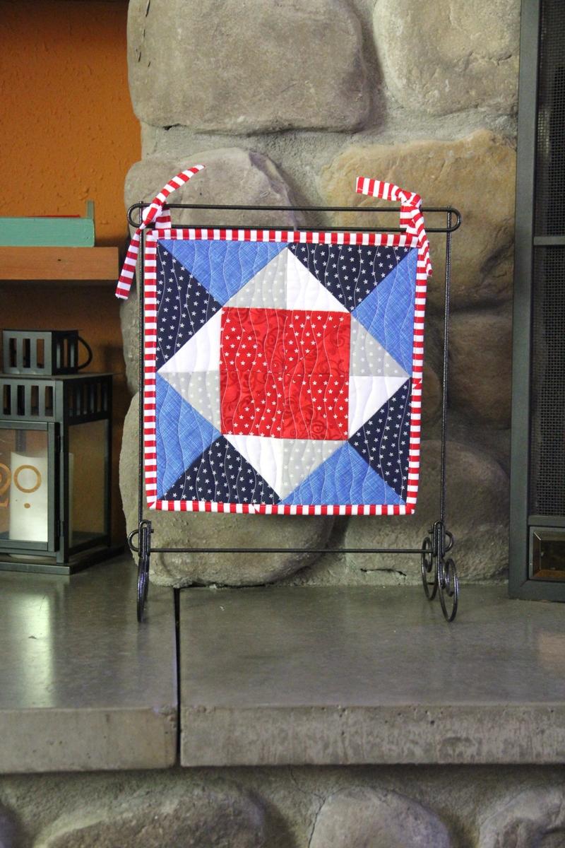 Pinwheel Square Mini Quilt from craftystaci.com