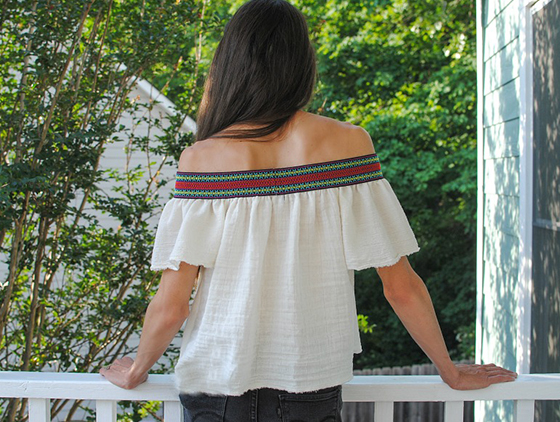 Easy Sew Boho Top from Make Something