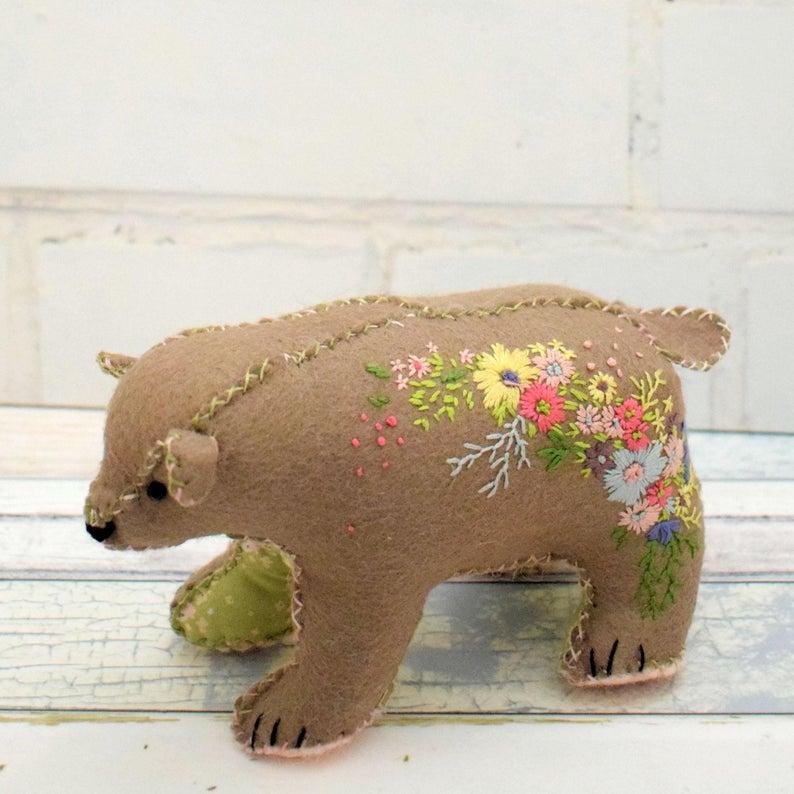 Blossom Bear Pincushion Pattern from BustleandSew
