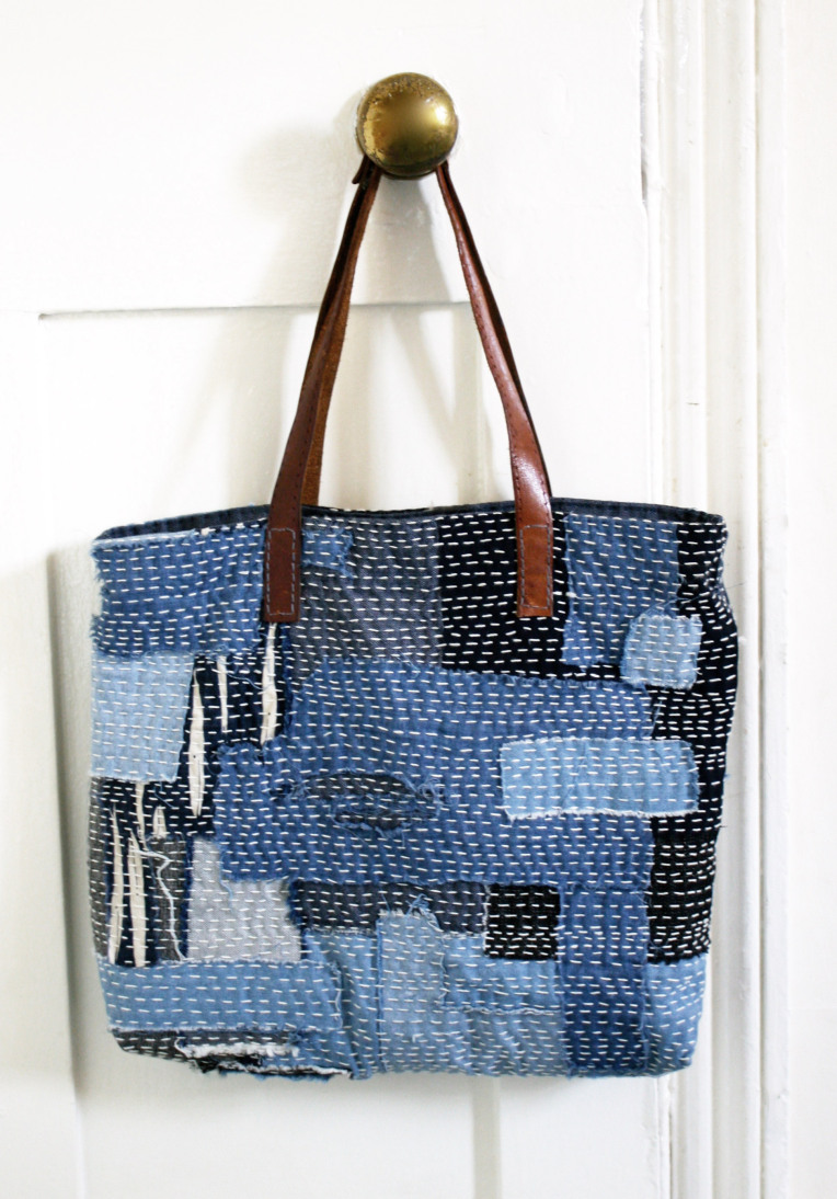 Sashiko Scrap Bag from Made by Toya
