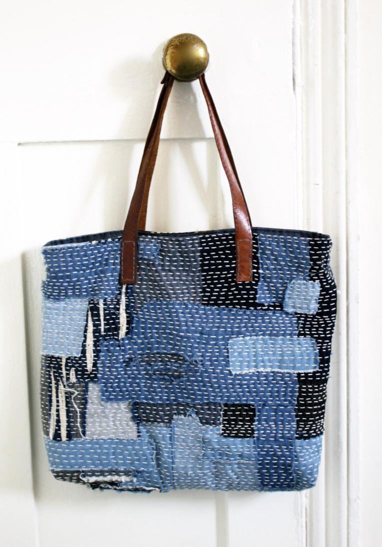 Sashiko Scrap Bag from Made by Toya