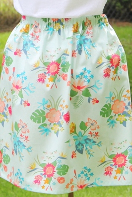 Simple Skirt by Crafty Staci for Sew Can She