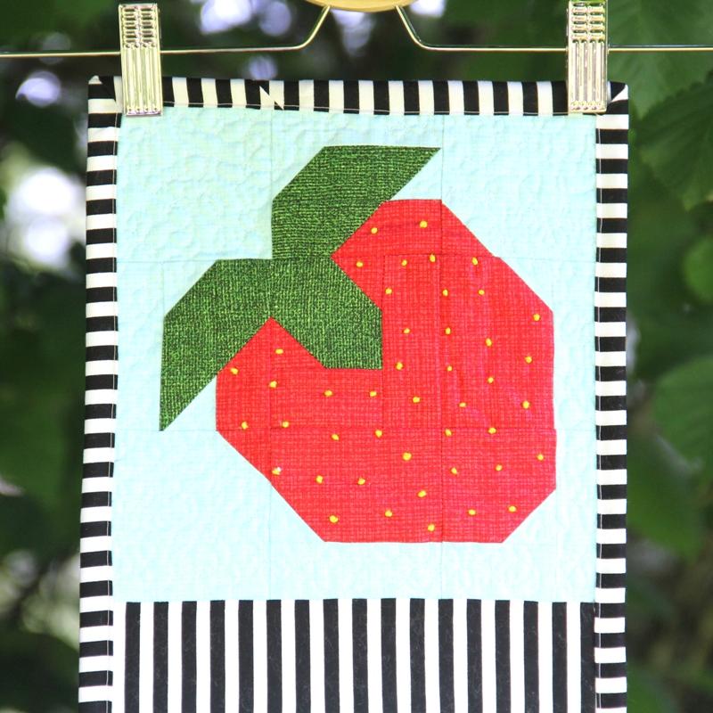 Row by Row Strawberry on Crafty Staci