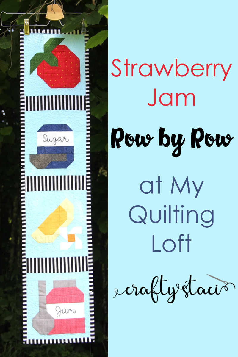 Strawberry Jam Row by Row at My Quilting Loft #craftystaci #rowbyrow #rowbyrowexperience #rowbyrow2019 #rowbyrowexperience2019