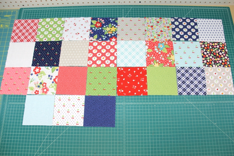 Pieces laid out for Market Bag from Annie's on Crafty Staci