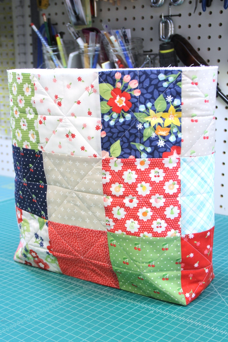 Market Bag in progress on Crafty Staci