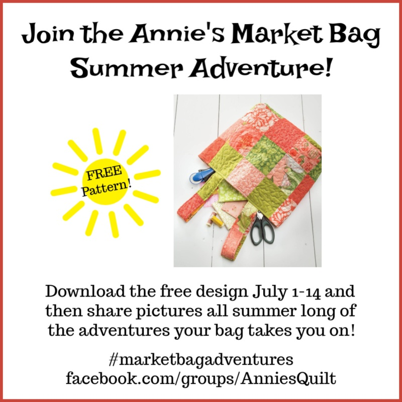 Quilted Market Bag from Annie's