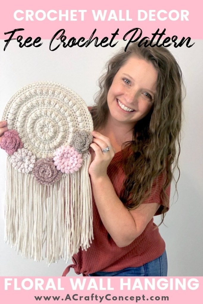 Crochet Wall Hanging from A Crafty Concept