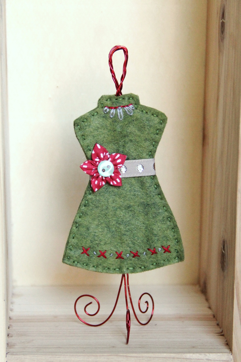 Green Dress Form Ornament