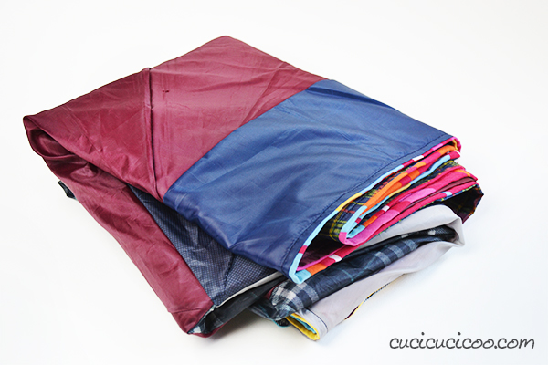 Waterproof Picnic Blanket from Upcycled Umbrellas from Cucicucicoo