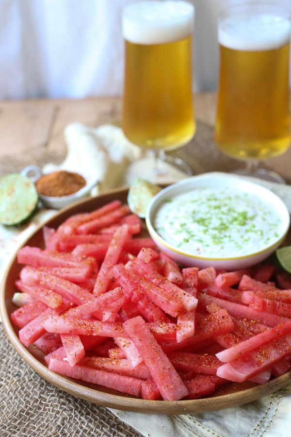 Watermelon Fries with Coconut Lime Dip from Abbeys Kitchen
