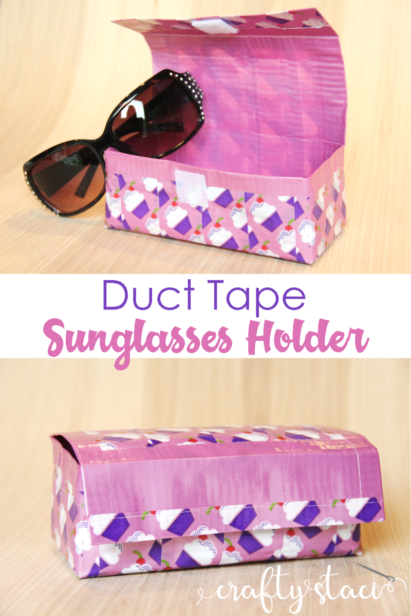 Duct Tape Sunglasses Holder from Crafty Staci #ducttape #ducttapecrafts #ducktape
