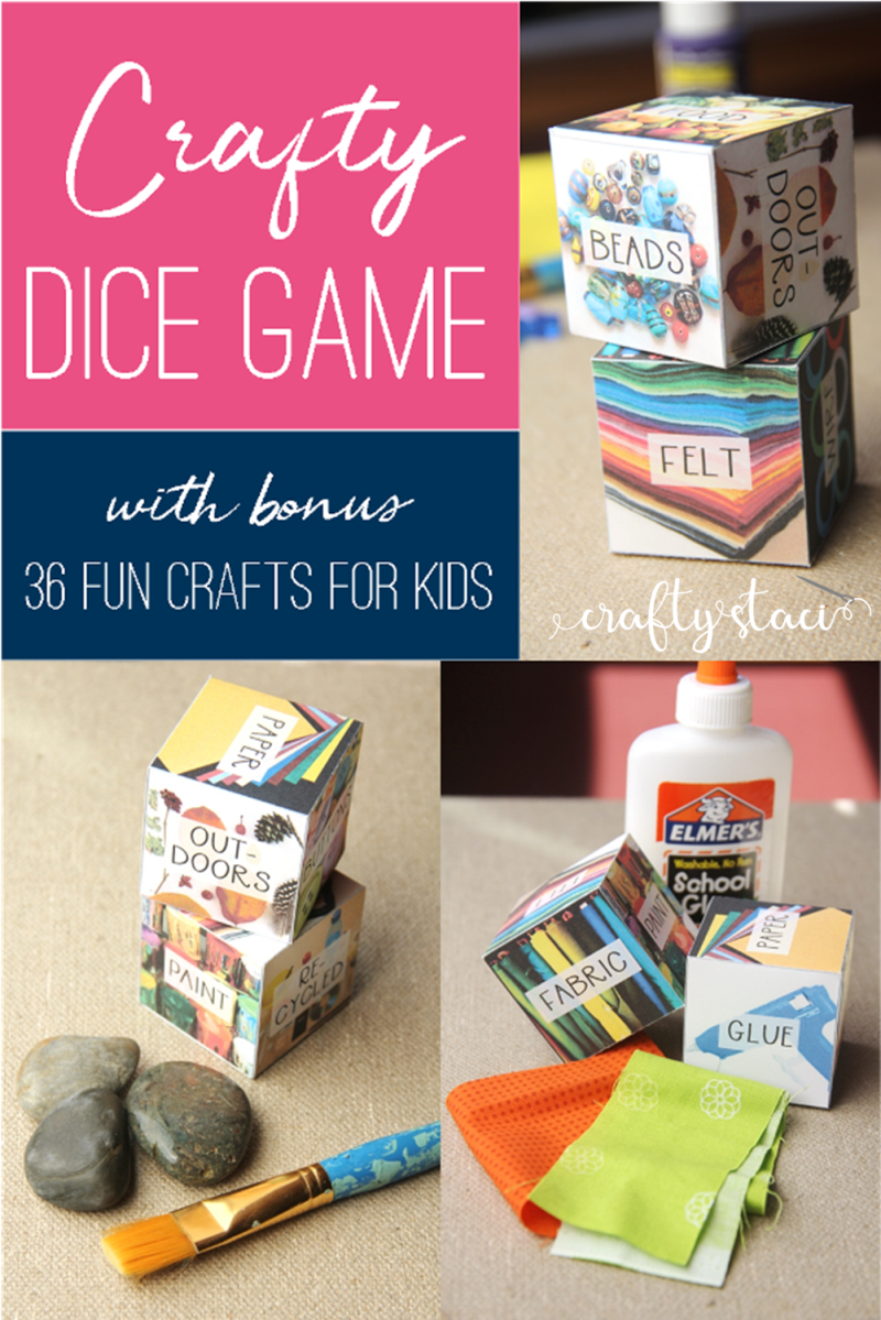 Crafty Dice Game on craftystaci.com #summercrafts #craftingwithkids #boredombuster