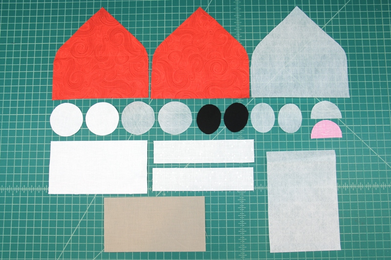 Cut pieces for Santa Hanging Towel