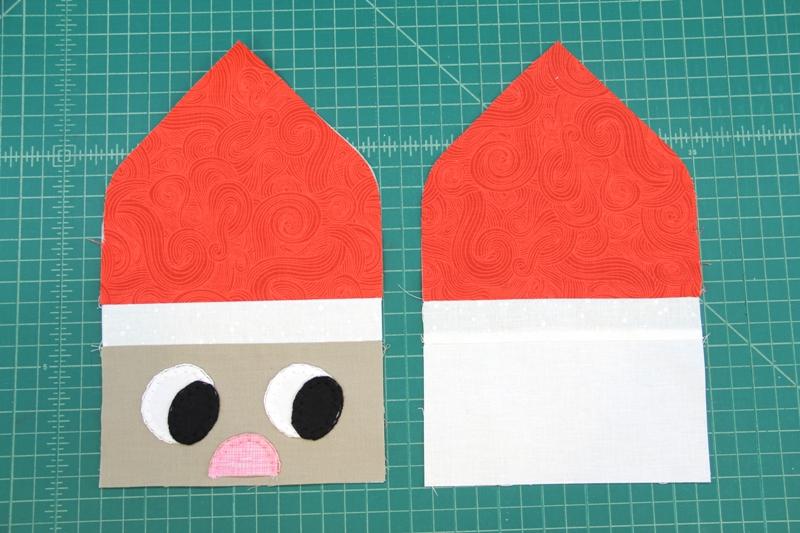 Santa front and back