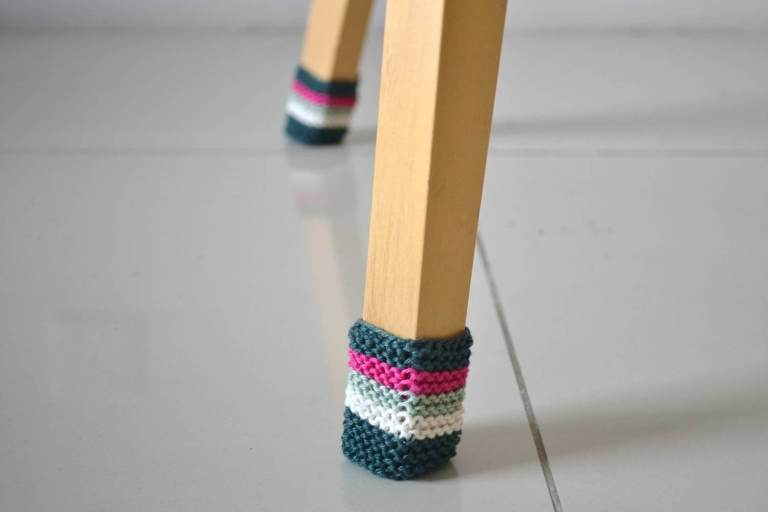 Knit Chair Socks from Knitting with Chopsticks