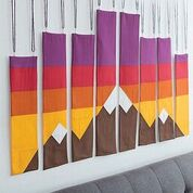 Mountains Quilted Wall Hanging
