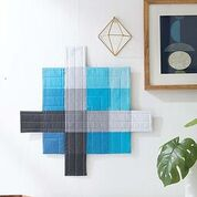 Modern Mountain Quilted Wall Hanging from Staci Wendland