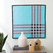 Geometric Plaid Quilted Wall Hanging by Staci Wendland