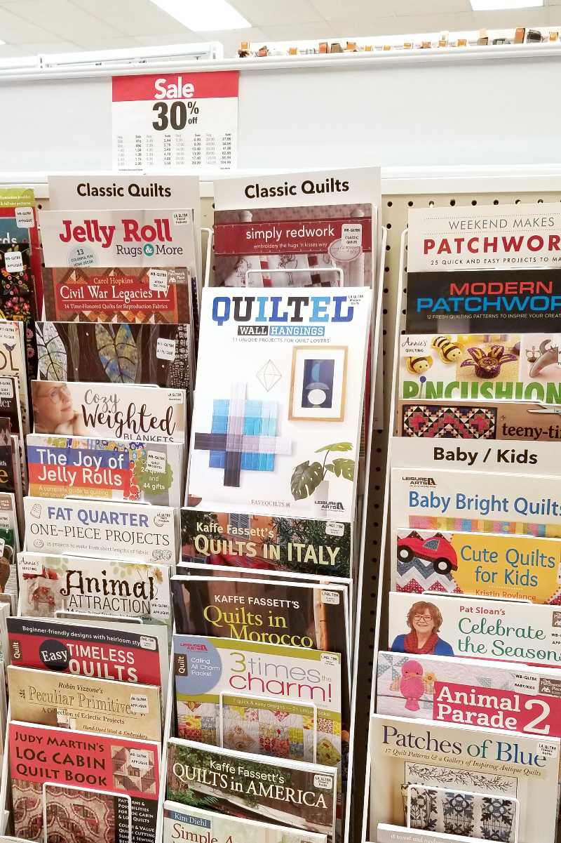 Quilted Wall Hangings book at Joann's