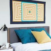 Modern God's Eye Quilted Wall Hanging