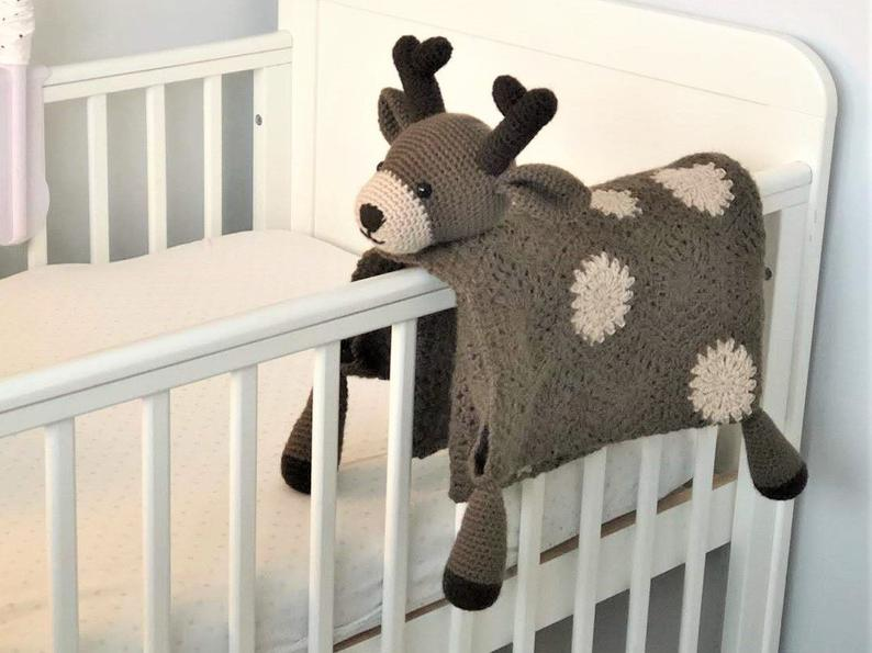 Woodland Deer Security Blanket from CraftingHappinessUK