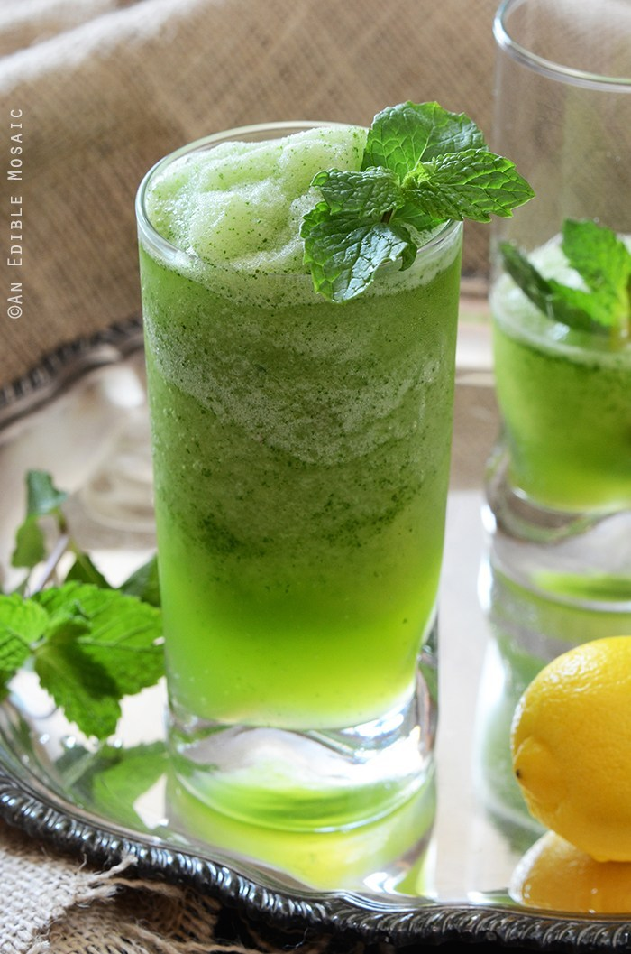 Limonana Frozen Mint Lemonade from An Edible Mosaic