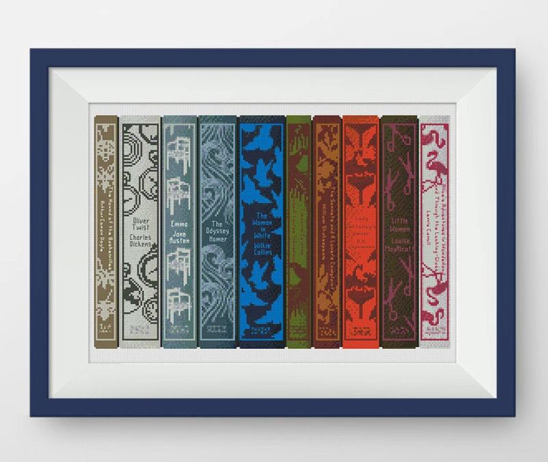 Book Shelf Cross Stitch Pattern from NataliNeedlework