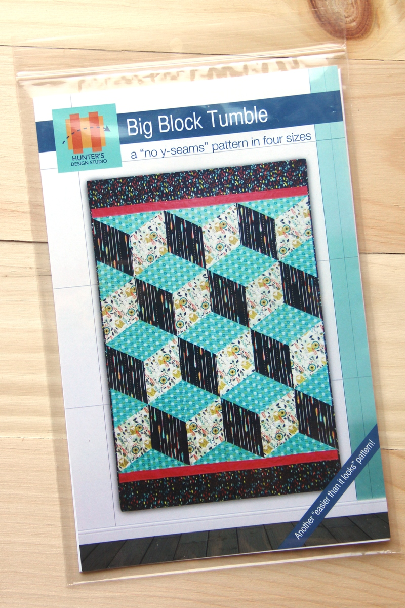 Big Block Tumble quilt pattern by Hunter Design Studio