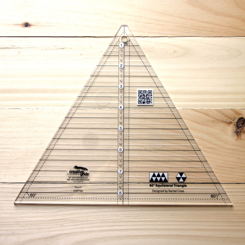 Creative Grids 60 Degree Triangle Ruler
