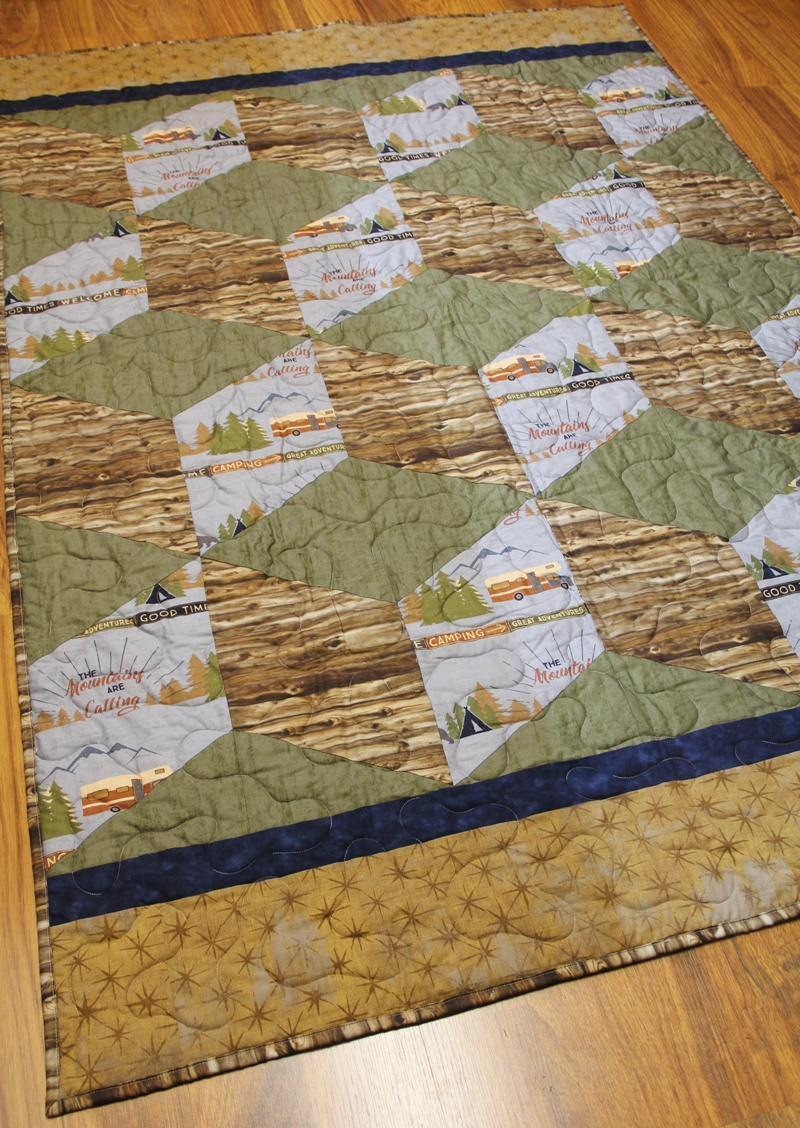 Colton's Big Block Tumble Quilt on craftystaci.com