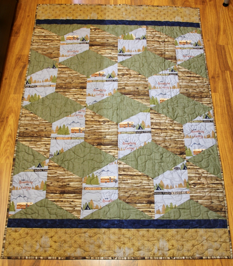 Colton's Big Block Tumble Quilt on Crafty Staci